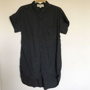 Cloth & Stone Black Button Front High Low Dress Sm
